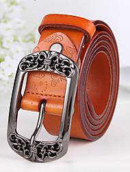 cheap -Women's Vintage Leather Waist Belt Buckle