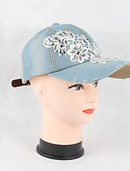 abordables -Femme Coton Travail Décontracté Chapeau de soleil Casquette de Baseball - Stylé, Couleur Pleine Floral/Botanique