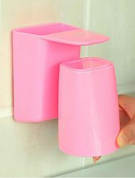 economico -Porta spazzolini Plastica A muro Boutique ABS 1pc organizzazione del bagno