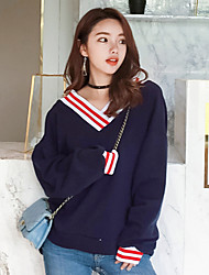 cheap -Women's Short Sleeves Cotton Sweatshirt - Solid