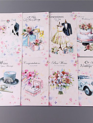 cheap -Side Fold Wedding Invitations 8 pack-Invitation Cards Classic Style Bride & Groom Style Floral Style Embossed Paper Flowers