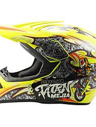 Недорогие -Ahp 225 мотоцикл мотокросс шлем для взрослых внедорожный шлем анфас гоночный стиль демпфирования / прочный флуоресцентный желтый