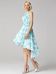 economico -Da ballo Con decorazione gioiello Asimmetrico Pizzo floreale Cocktail / Graduazione Vestito con di TS Couture®
