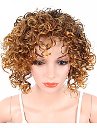 cheap -Synthetic Wig Curly / Kinky Curly With Bangs Synthetic Hair African American Wig Blonde / Brown Wig Cosplay Wig / Natural Wigs / Party Wig