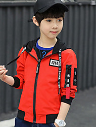 cheap -Boys' Daily Floral Jacket & Coat, Polyester Long Sleeves Cute Black Red