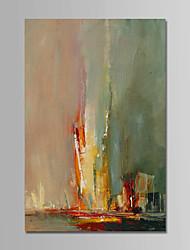 abordables -Peinture à l'huile Hang-peint Peint à la main - Abstrait Contemporain simple Moderne Toile