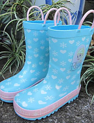 cheap -Girls' Boys' Shoes Rubber Spring Fall Rain Boots Comfort Boots Mid-Calf Boots for Outdoor Gray Yellow Light Blue