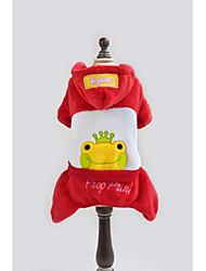 Недорогие -Собака Костюмы Плащи Толстовки Одежда для собак Буквы и цифры Животное Желтый Красный Ткань для подбивки Хлопковая ткань Костюм Для