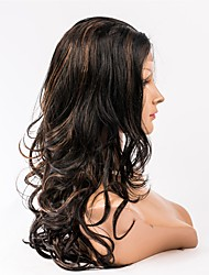 abordables -Cheveux humains Full Lace Perruque Cheveux Brésiliens Ondulation naturelle 130% Densité Femme Perruque Naturelle Dentelle