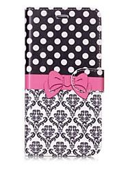 Недорогие -Кейс для Назначение Apple iPhone X / iPhone 8 Кошелек / Бумажник для карт / Флип Чехол Плитка / Кружева Печать Твердый Кожа PU для iPhone X / iPhone 8 Pluss / iPhone 8