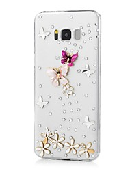 cheap -Case For Samsung Galaxy S8 Plus S8 Rhinestone Pattern Back Cover Butterfly Hard Acrylic for S8 Plus S8 S7 edge S7