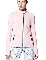cheap -Women's Open Back Running Shirt - Pink Sports Sweatshirt / Top Yoga, Fitness, Gym Long Sleeve Activewear Breathability Inelastic