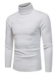 economico -Per uomo Casual Manica lunga Pullover Tinta unita Rotonda