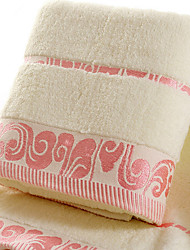 abordables -Style frais Serviette de bain, Jacquard Qualité supérieure 100% Coton Plaine coton 100% Serviette