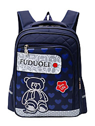 baratos -Crianças Bolsas Fibra Sintética mochila Ziper para Casual Todas as Estações Azul Rosa Azul Escuro Roxo Fúcsia