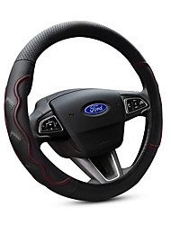 cheap -Automotive Steering Wheel Covers(Leather Rubber)For Ford All years Escort Fiesta Mondeo Kuga Edge Focus