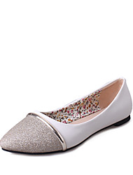 cheap -Shoes PU Spring Fall Comfort Flats Flat Heel for Outdoor Gold Black Silver