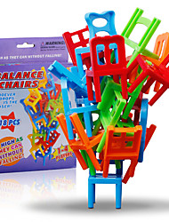 cheap -Building Blocks Stacking Game Chair Balance Classic Classic Girls' Boys'
