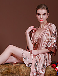 cheap -Women's Suits Satin & Silk Pajamas-Stylish,Floral