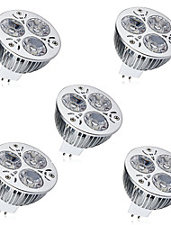 cheap -5pcs 6W 450 lm GU5.3(MR16) LED Spotlight MR16 3 leds High Power LED Decorative Warm White Cold White DC 12V