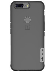 cheap -Case For OnePlus OnePlus 5T 5 Ultra-thin Transparent Back Cover Solid Color Soft TPU for One Plus 5 OnePlus 5T