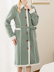 Недорогие -Свежий стиль Банный халат, Однотонный Высшее качество 100% полиэстер Хлопок/полиэфир Полотенце