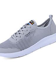 abordables -Homme Maille Automne Confort Chaussures d'Athlétisme Noir / Gris / Bleu / Course à Pied