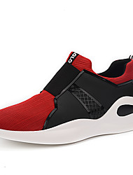 cheap -Men's Light Soles Nubuck leather / Suede / Faux Leather Spring Comfort Athletic Shoes Running Shoes / Hiking Shoes / Cycling Shoes Color Block Black / Gray / Red / Tulle / Walking Shoes