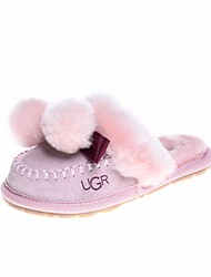 cheap -Girls' Boys' Shoes Cowhide Winter Fall Comfort Slippers & Flip-Flops for Casual Black Pink