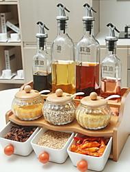 Недорогие -дерево Творческая кухня Гаджет Хранение продуктов питания 11pcs Кухонная организация