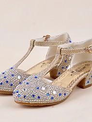 preiswerte -Mädchen Schuhe Paillette Frühling Sommer Tiny Heels für Teens High Heels Kristall für Normal Gold Silber Purpur