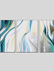 Недорогие -С картинкой Ручная роспись - Абстракция Modern Включите внутренний каркас / 3 панели / Растянутый холст