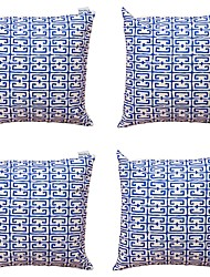 cheap -4 pcs Textile Cotton/Linen Pillow Cover,Striped Geometric Abstract