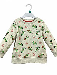 cheap -Baby Boys' Daily Solid Graphic Blouse, Cotton Simple Cute Casual Long Sleeves Beige