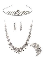 Недорогие -Жен. Комплект ювелирных изделий - Искусственный бриллиант европейский, Мода Включают Диадемы / Свадебные комплекты ювелирных изделий Белый Назначение Свадьба / Для вечеринок
