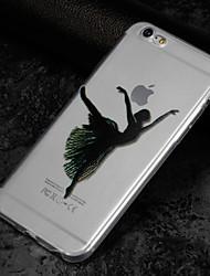 preiswerte -Hülle Für Apple iPhone X iPhone 8 Transparent Muster Rückseitenabdeckung Sexy Lady Weich TPU für iPhone X iPhone 8 Plus iPhone 8 iPhone 7