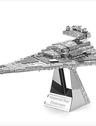 cheap -Imperial Star Destroyer 3D Puzzles Jigsaw Puzzle Metal Puzzles Model Building Kit 1 pcs Furnishing Articles Novelty Aircraft Carrier 3D