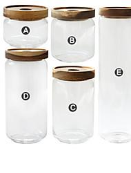 baratos -Vidro Gadget de Cozinha Criativa Armazenamento de alimentos 5pçs Organização de cozinha