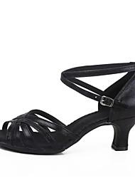 abordables -Femme Chaussures Latines Similicuir Talon Talon Personnalisé Personnalisables Chaussures de danse Argent / Rouge / Bleu / Intérieur / Cuir