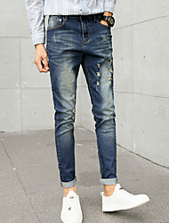cheap -Men's Vintage Jeans Pants - Solid