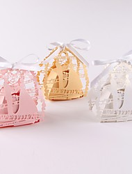 cheap -Other Pearl Paper Favor Holder with Ribbons Favor Boxes - 50