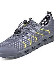 baratos -sapatos Couro Ecológico Primavera Outono Conforto Tênis para Atlético Laranja Cinzento Escuro