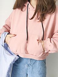 abordables -Mujer Tallas pequeñas Sudadera Noche Casual Estampado Con Capucha Cinturón No Incluido Rígido Algodón Mangas largas Invierno Otoño