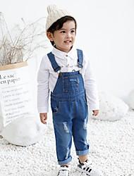 abordables -Couleur Pleine Fille de Coton Fibre de bambou Spandex Printemps Robe Actif Bleu