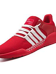 abordables -Homme Chaussures Tissu Printemps Automne Confort Chaussures d'Athlétisme Course à Pied pour Athlétique Blanc Noir Rouge