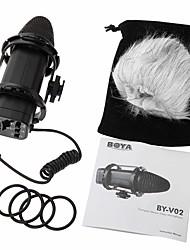 preiswerte -boya by-v02 stereo x / y kondensator mikrofon professionelle kamera interviews mikrofon 3,5 mm mini-jack wired sendung mikrofon