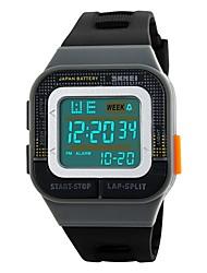 Недорогие -SKMEI Для пары Спортивные часы Цифровой 50 m Защита от влаги Календарь Секундомер силиконовый Группа Цифровой На каждый день Мода Цветной Черный / Зеленый - Черный Серый Красный / Хронометр