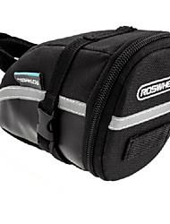preiswerte -ROSWHEEL Fahrradtasche 1.2LFahrrad-Sattel-Beutel Reflexstreifen Rutschfest Einfach zu installieren Tasche für das Rad Leder Fahrradtasche