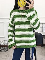 preiswerte -Damen Gestreift Baumwolle T-shirt