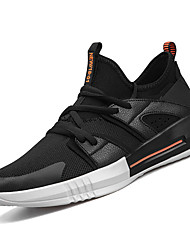 baratos -Homens sapatos Tule Primavera / Outono Conforto Tênis Corrida Branco / Preto / Vermelho